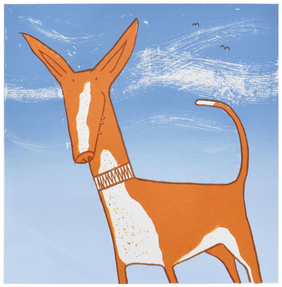 spanish podenco art print