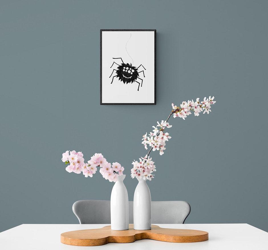 funny spider art