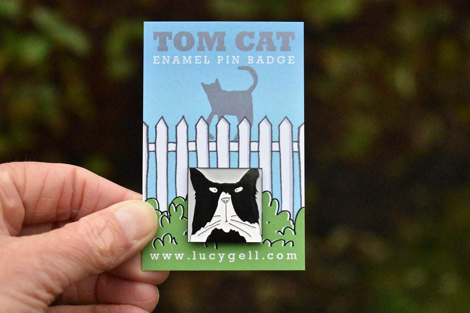 tom cat enamel pin badge