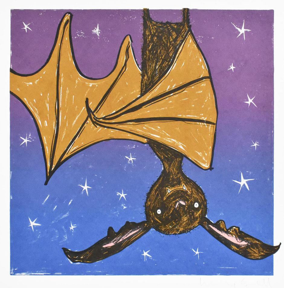 halloween bat wall art
