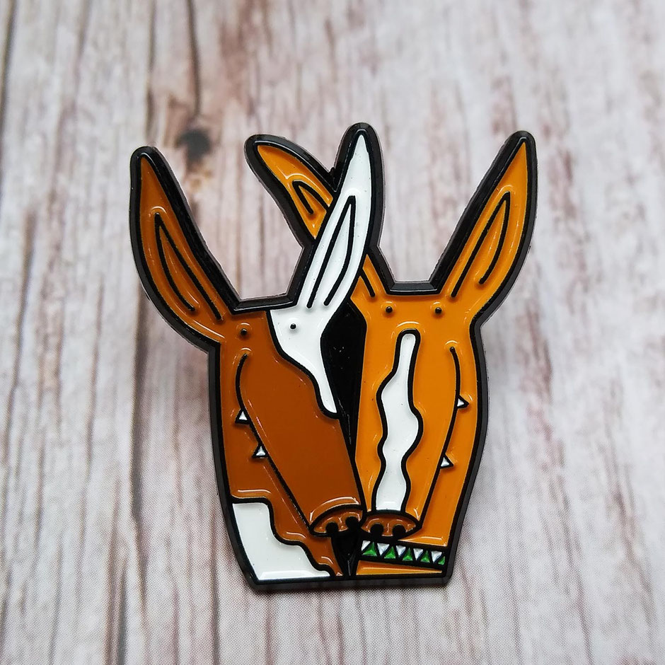 Podenco dog pin