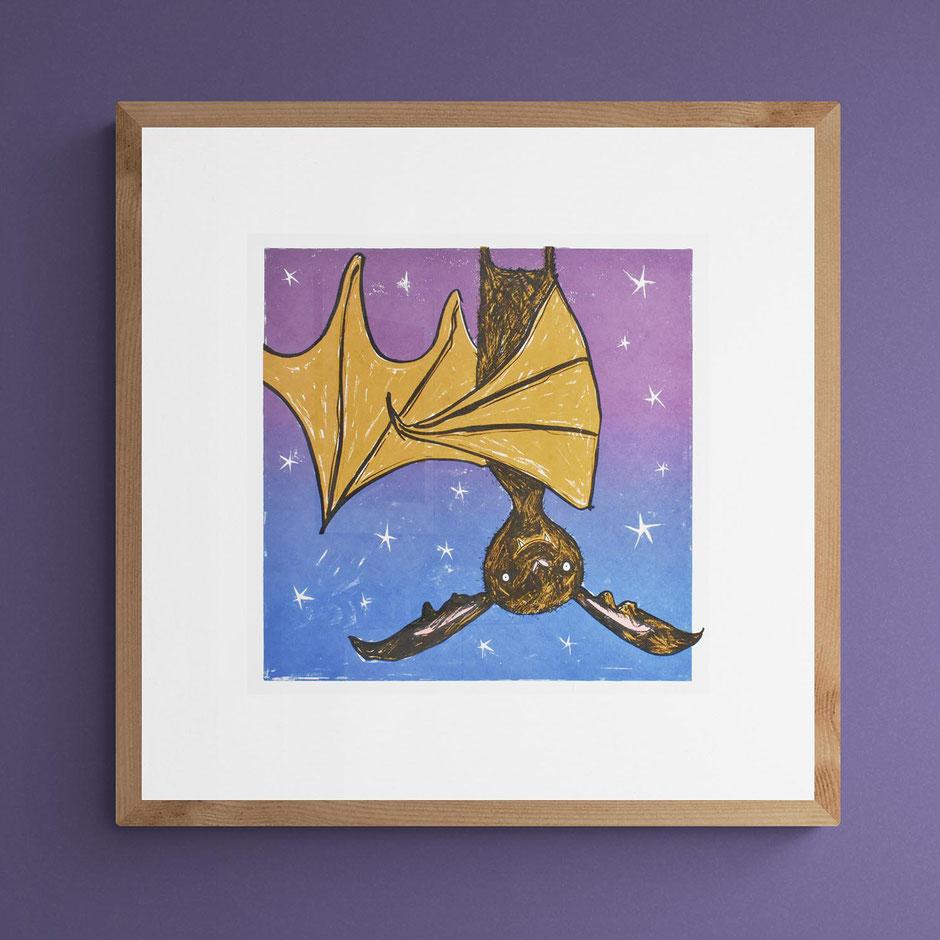 fun bat art prints