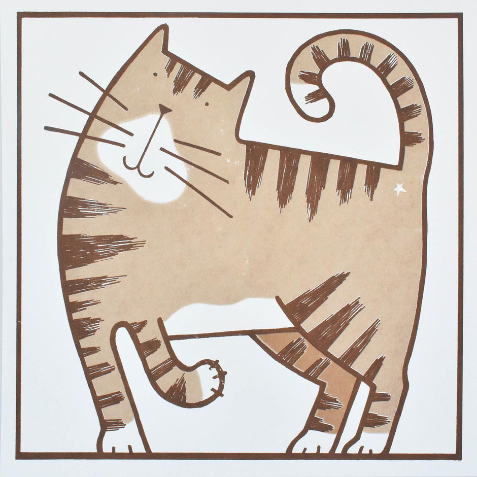 tabby cat art