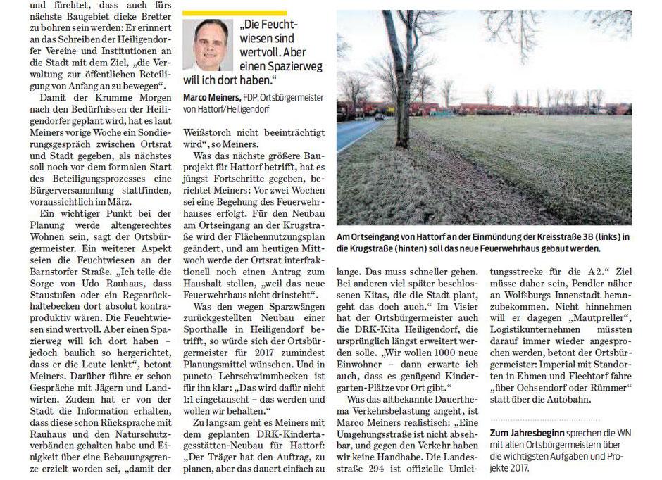 Wolfsburger Nachrichten, 15.02.2017