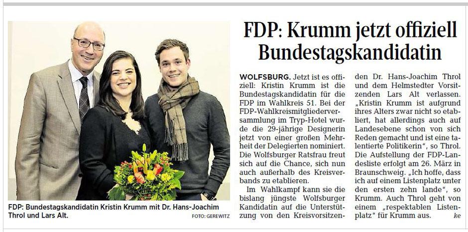 Wolfsburger Allgemeine Zeitung, 22.02.2017