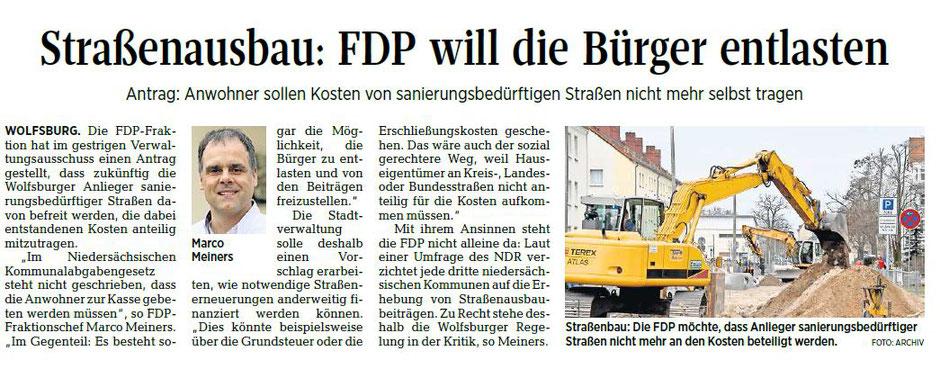 Wolfsburger Allgemeine Zeitung, 09.05.18