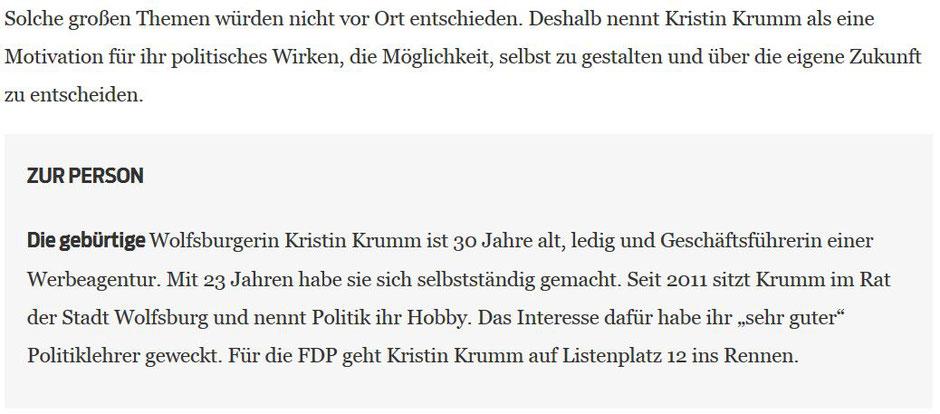 Sebahat Arifi, Helmstedter Nachrichten, 30.08.2017