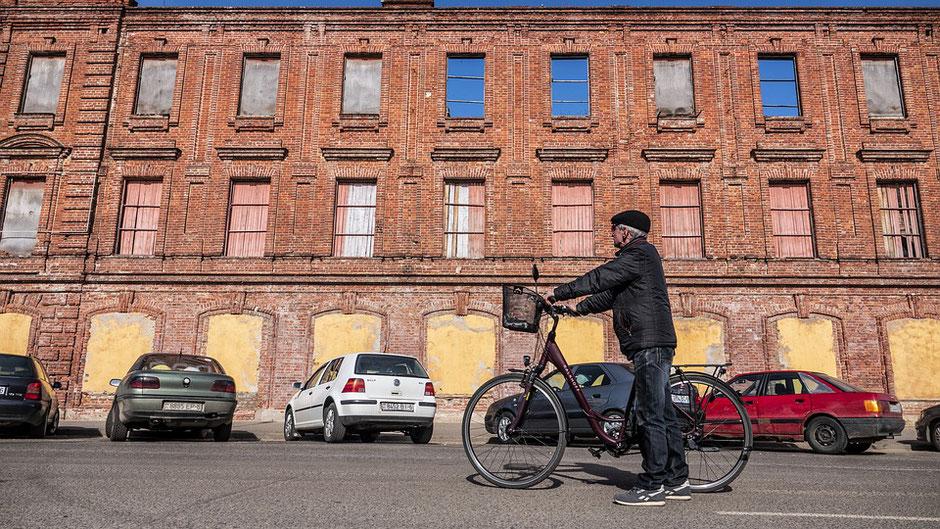 papy à vélo
