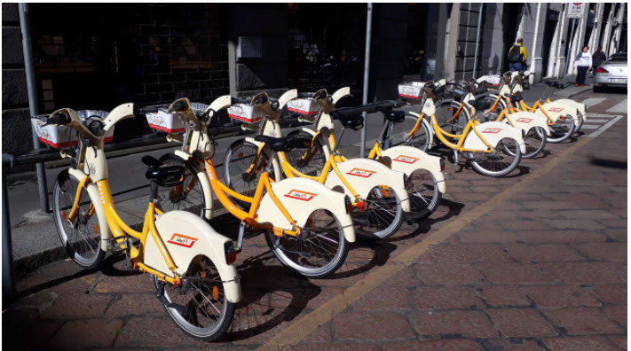 vélo en libre service italie