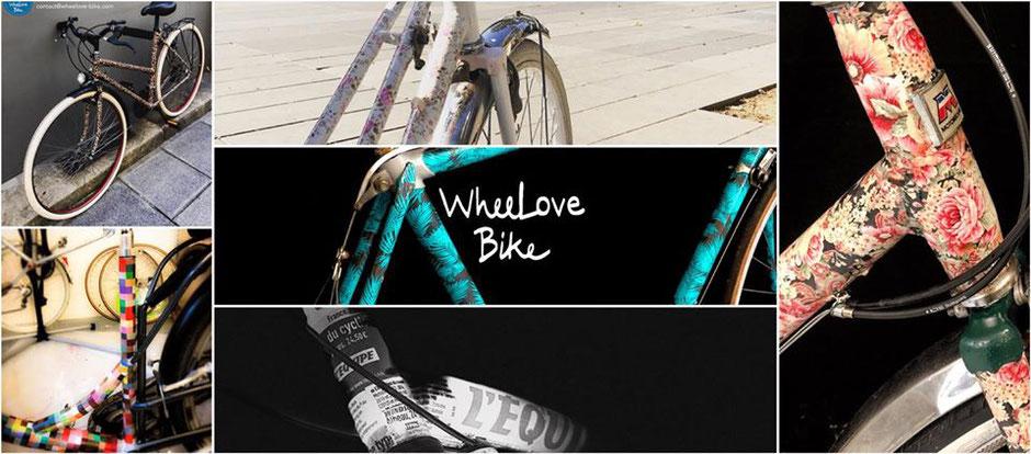 Collection de vélos d'occasion artistiques uniques