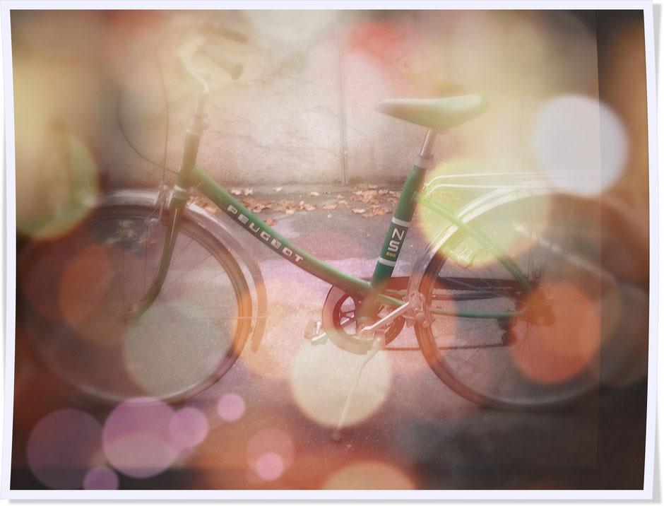 vélo vintage ns peugeot vert