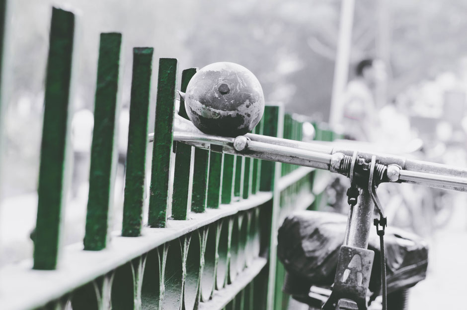 vélo occasion sous la neige