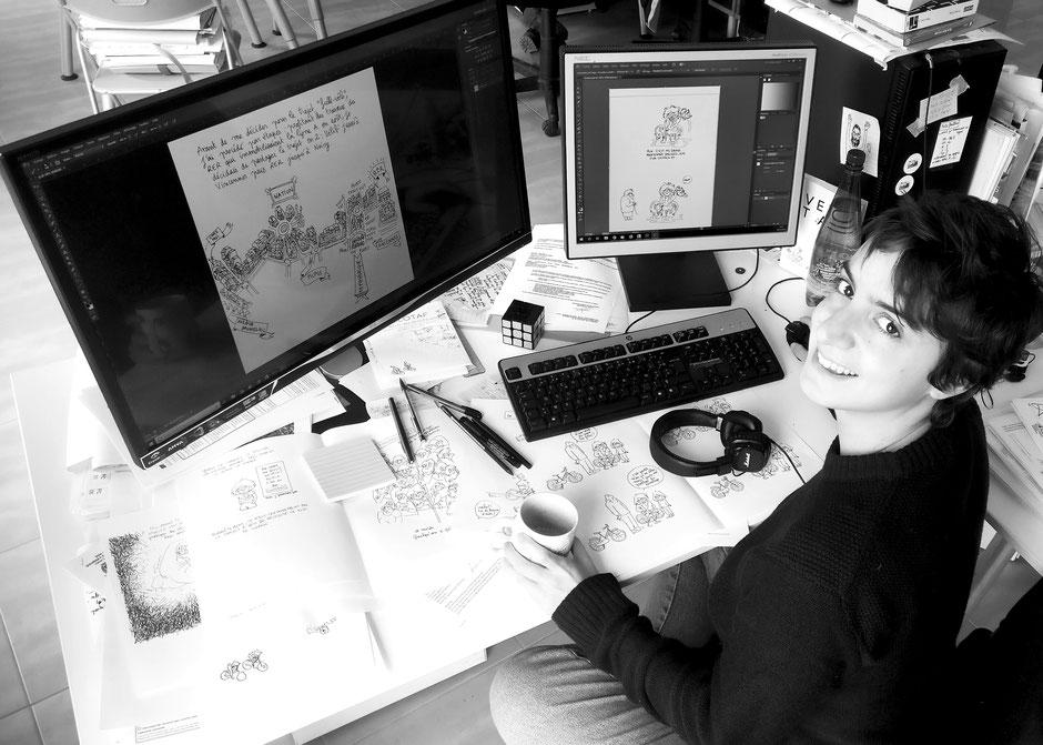 Eve Coton dessintrice Velotaf