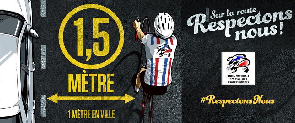 Affiche securité routière vélo