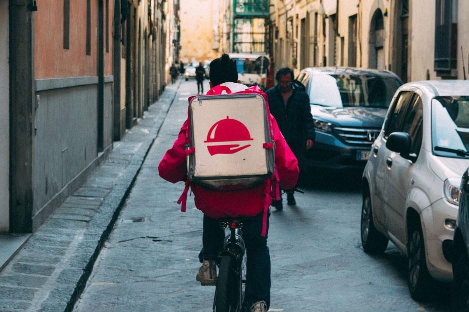 livreur à vélo