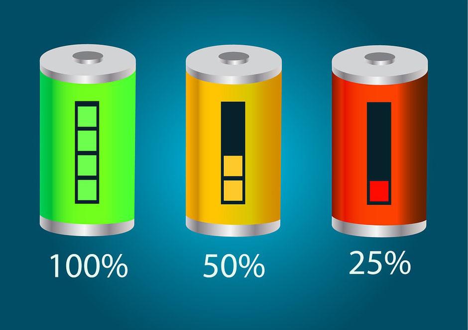 batterie VAE pleine vide