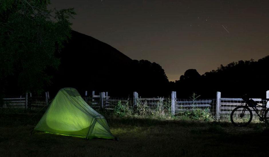 nuit en bikepacking