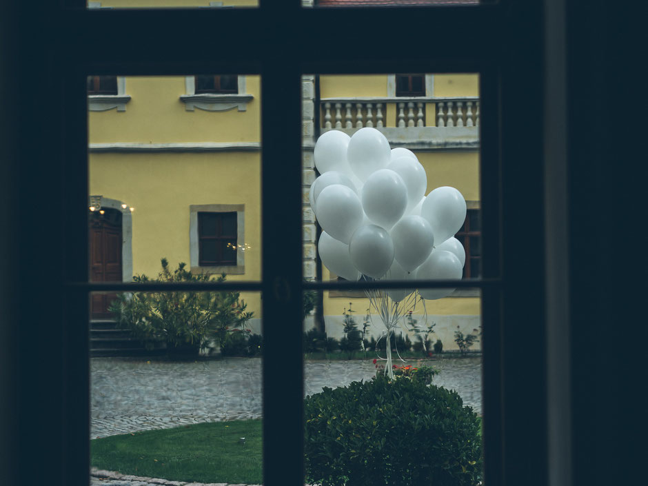 Ballons - Hochzeit Schloss Proschwitz