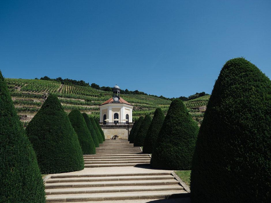 Treppenaufgang zum Belvedere Radebeul