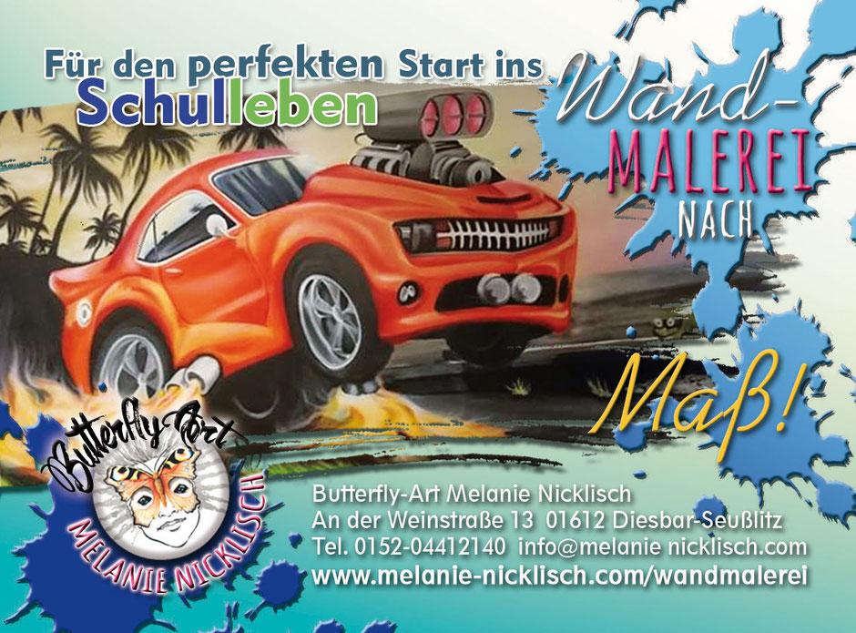Wandmalerei im Kinderzimmer von Butterfly-Art Melanie Nicklisch in Riesa