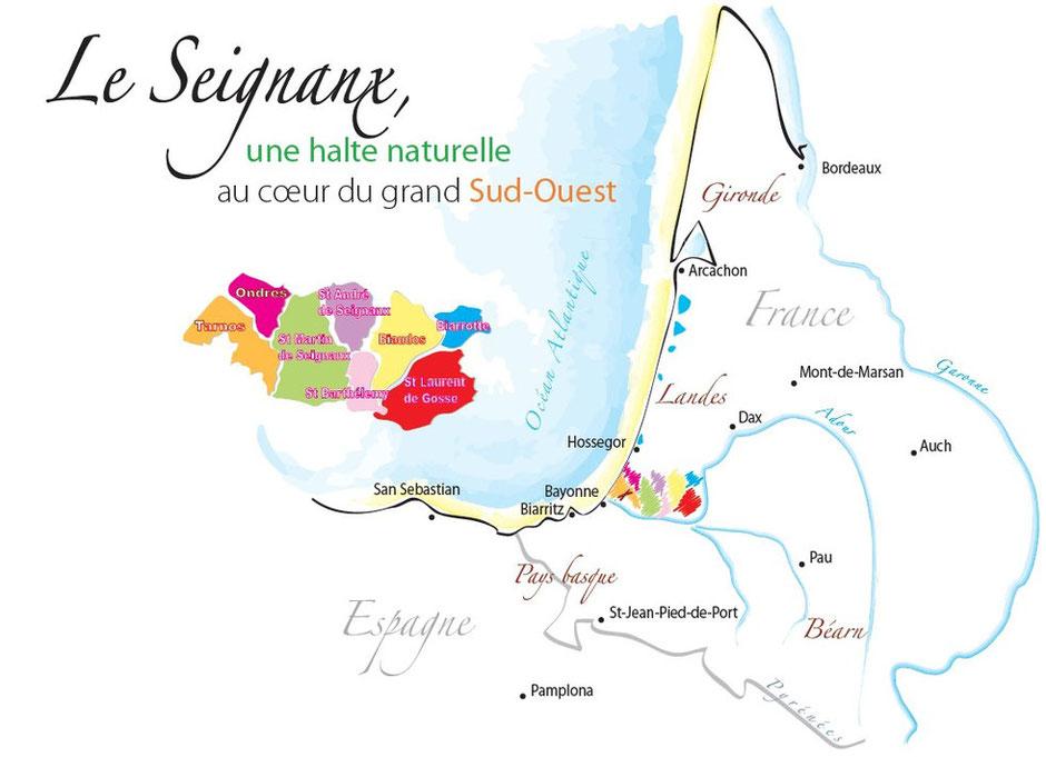 Ondres tarnos et le seignanx randonn es entre landes et pays basque - Office de tourisme ondres ...