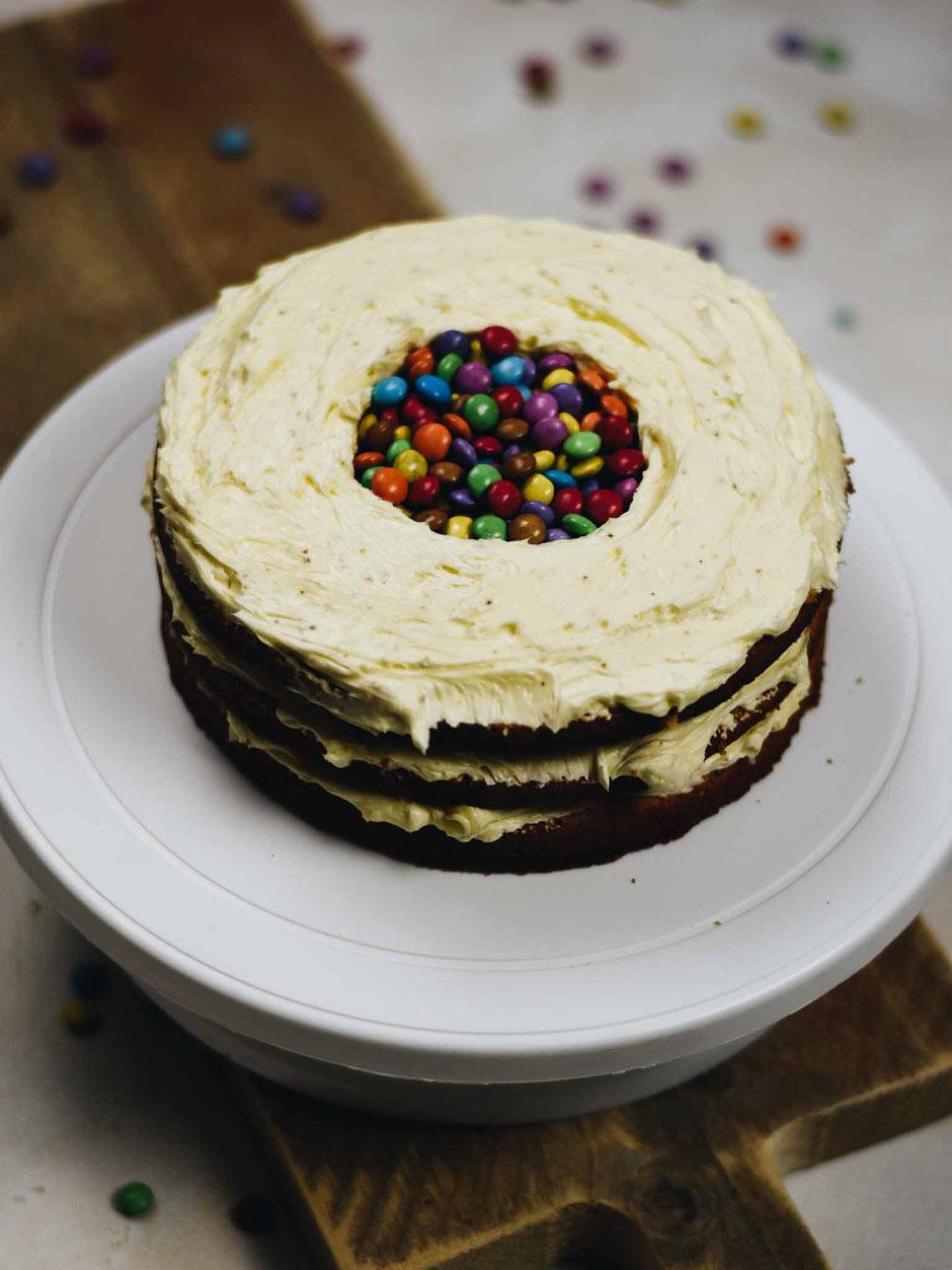 SURPRISE-CAKE FÜR DEN UNRUHESTAND