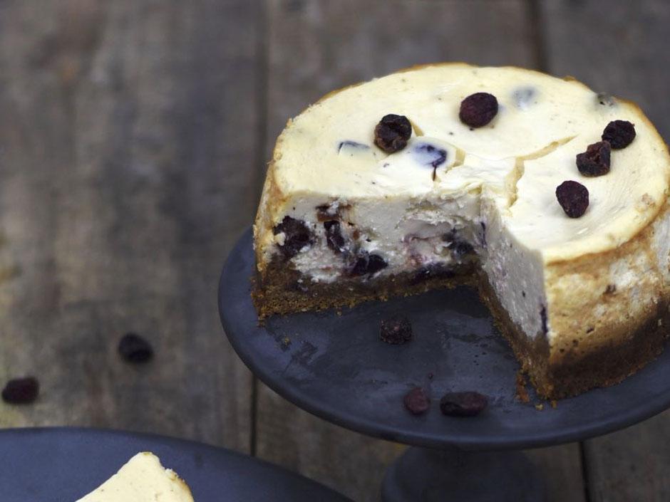 Cheesecake mit Cranbeery