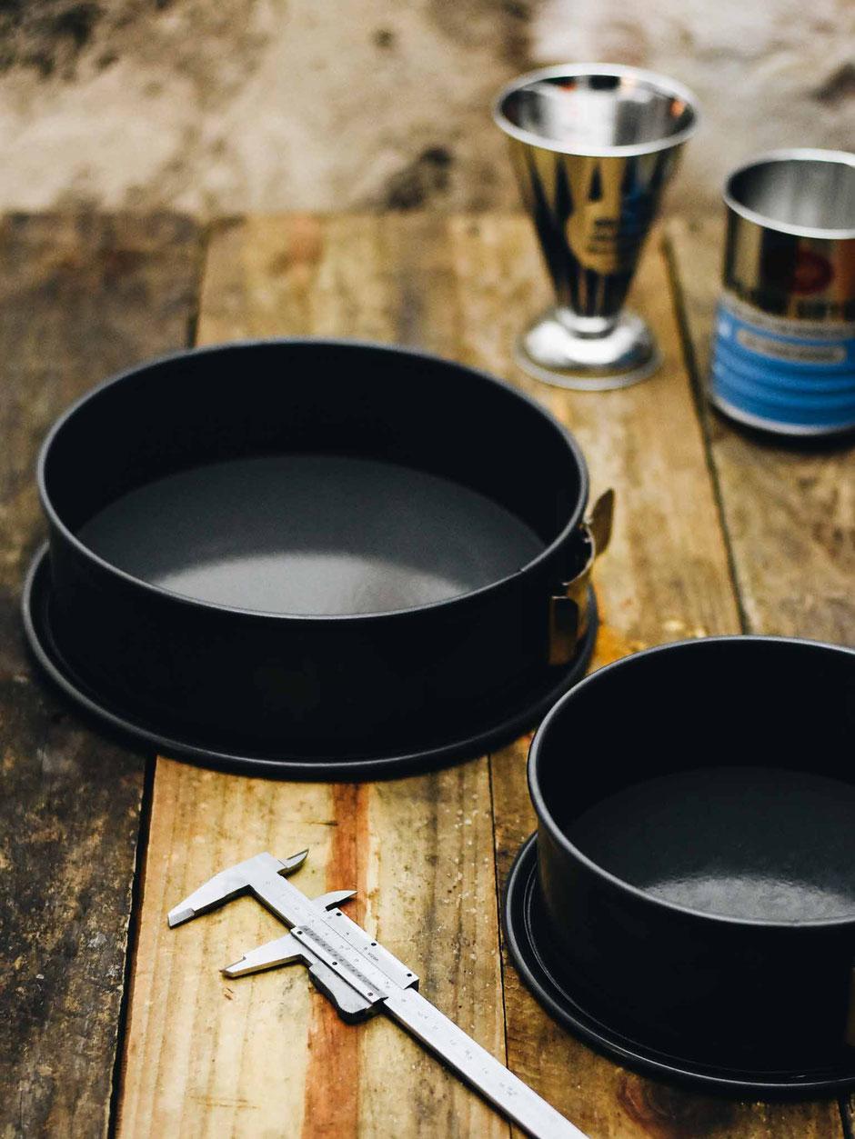 Umrechnungstabelle für Kuchenformen