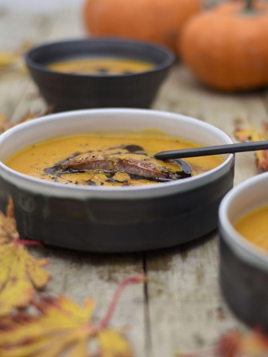 Kürbissuppe mit Salsiccia