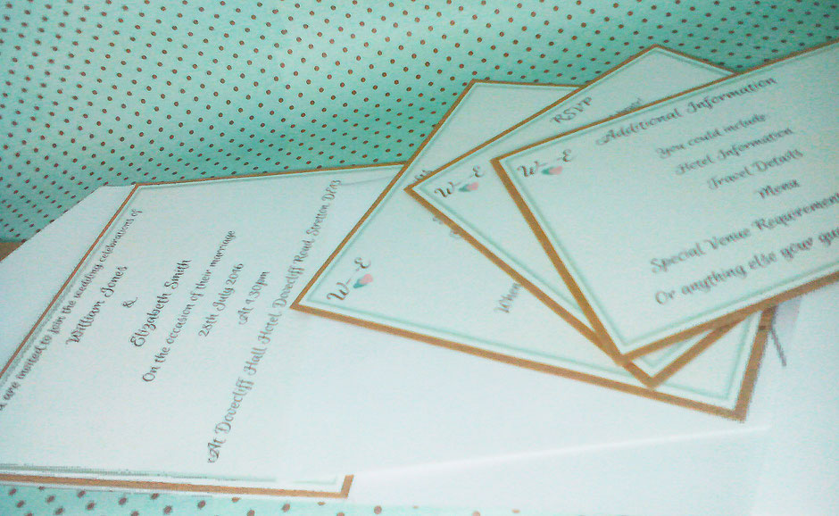 Pocket Fold invitation with the cards removed