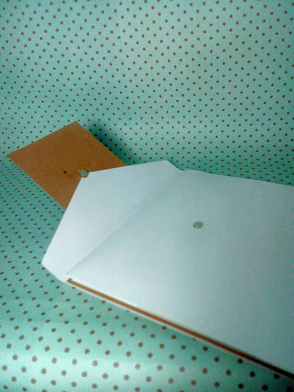 Pocketfold style invitations are fastened with a small pair of magnets