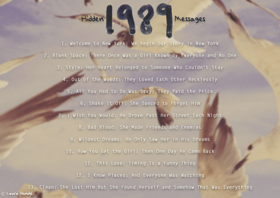 """1989"" Hidden Messages"