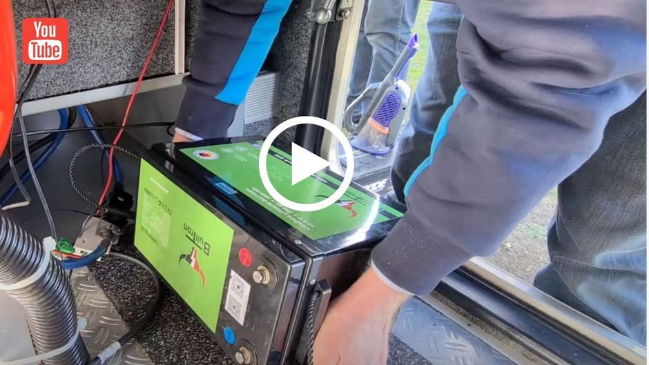 Einbau Bulltron Batterie, LiFePO4, Lithium Batterie im Wohnmobil, Autarkie, Leben im Wohnmobil