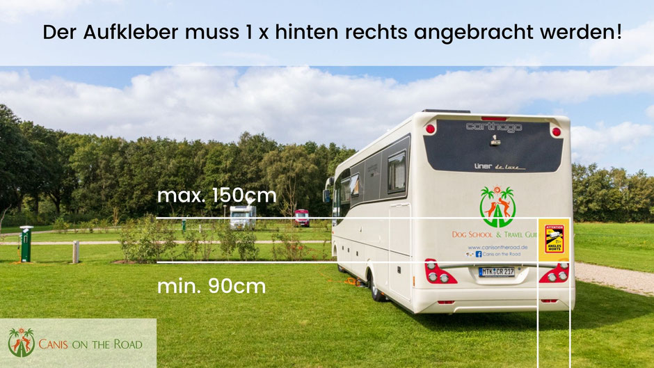 Toter Winkel Aufkleber Frankreich, Camping, Wohnmobil,