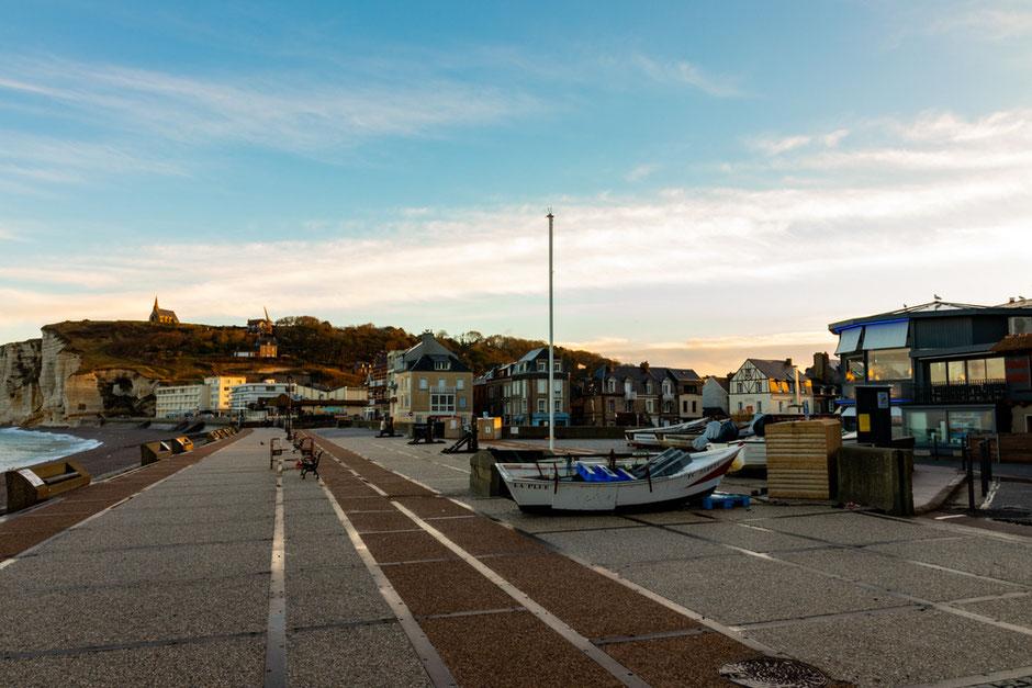 Promenade, Normandie, Etretat,