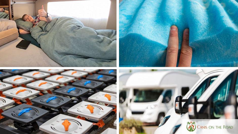 Matratzen fürs Wohnmobil, Lattenrost fürs Wohnmobil, Wohnwagen, Camping