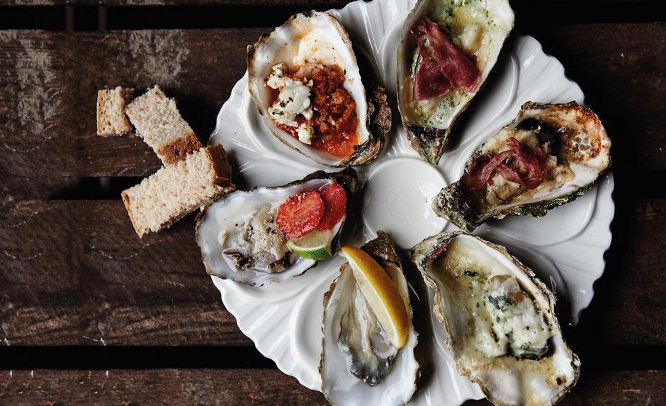 Verführerisch angerichtet: Beim Austernfestival auf Fanø sind die Meeresfrüchte besonders frisch. Foto: VisitDenmark/PR