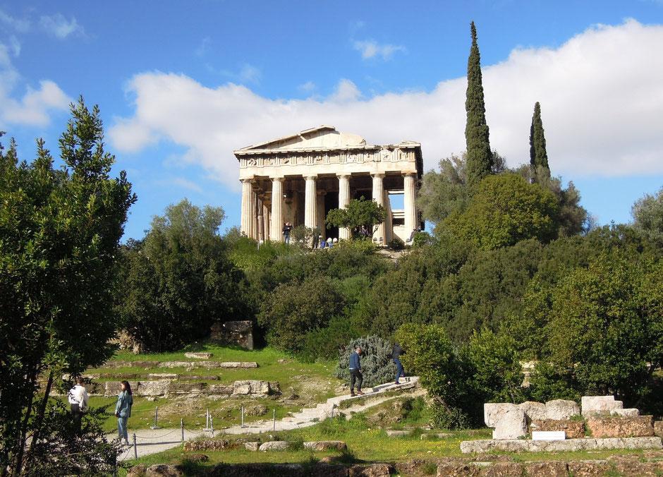 Geschichte pur: der Tempel des Hephaistos im historischen Viertel Agora. Foto: Christoph Schumann, 2020