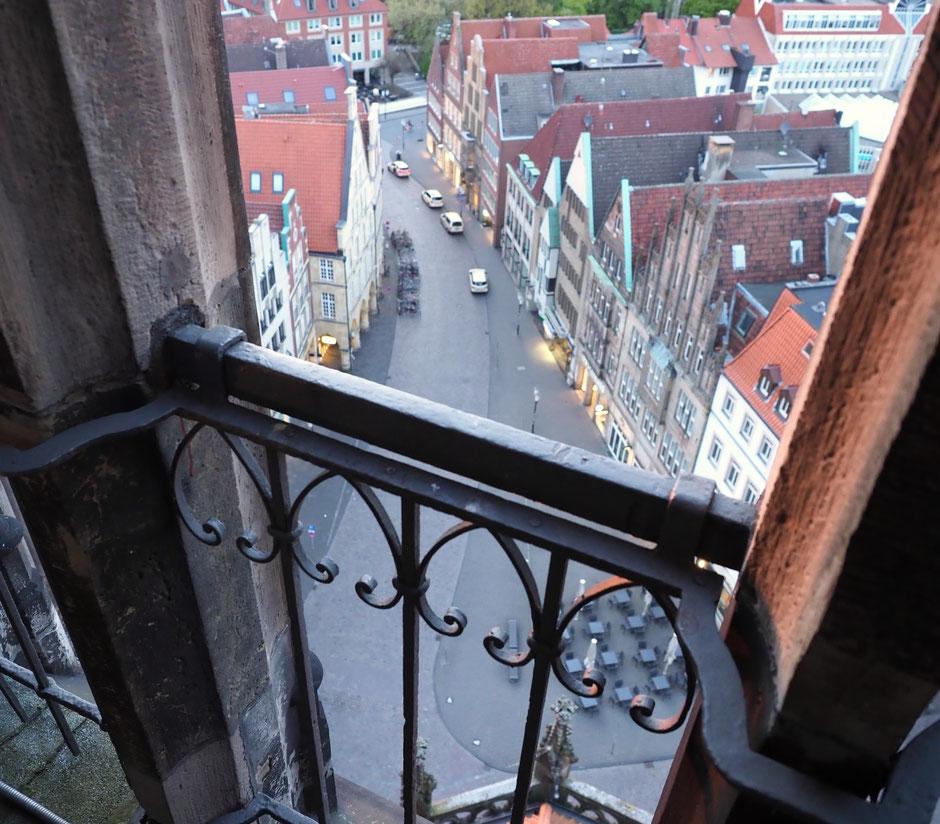 Blick vom Turm auf den Drubbel. Foto: C. Schumann, 2017.