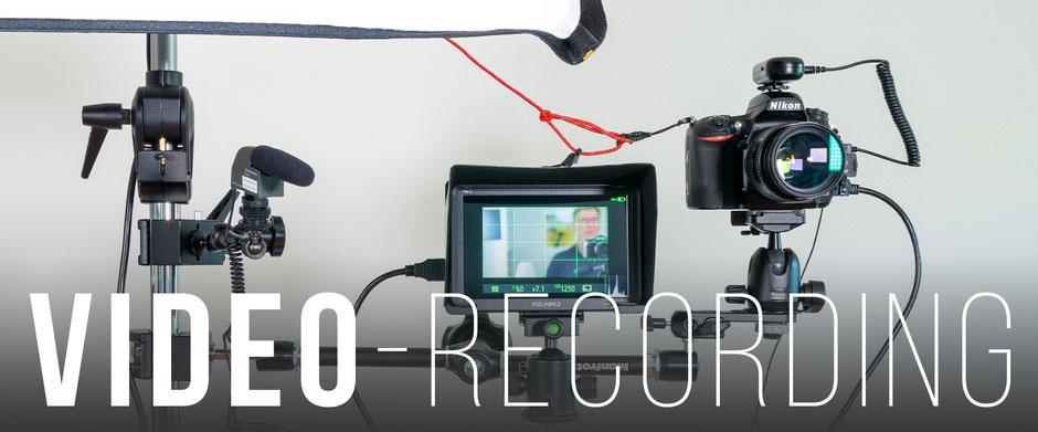 Blog Banner, Video-Recording, Aufbau, Dr. Ralph Oehlmann, Oehlmann-Photography