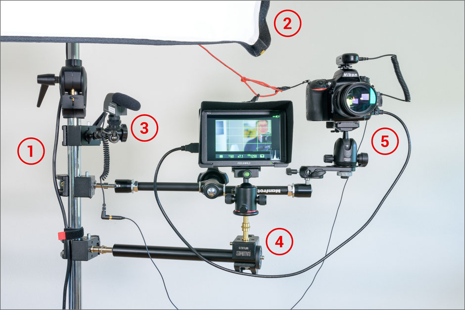 Video-Recording-Stand, Aufbau, Ansicht vorne, Dr. Ralph Oehlmann, Oehlmann-Photography