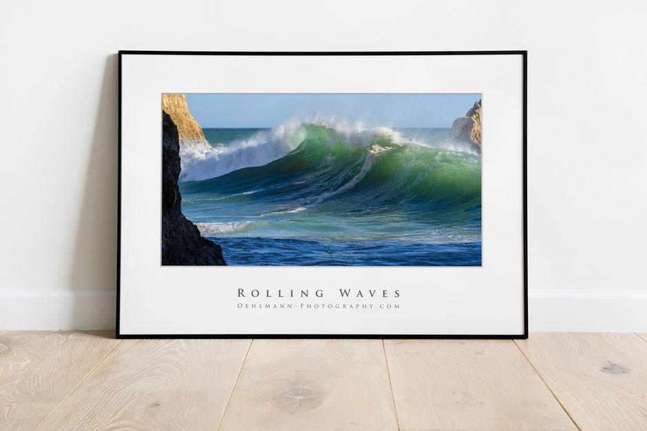 """Mockup """"Rolling Waves"""", Tres Irmaos Beach, Alvor, Algarve, Portugal, Dr. Ralph Oehlmann, Oehlmann-Photography"""