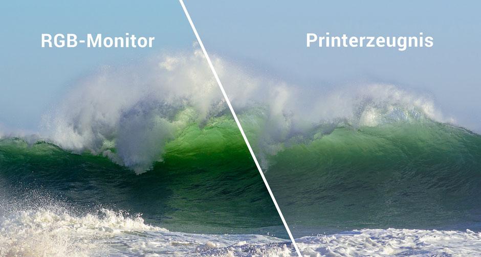 Vergleich RGB-Monitor versus Print, SoftProofing, Dr. Ralph Oehlmann, Oehlmann-Photography