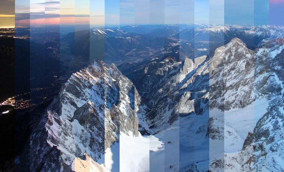 TimeSlice, foto-webcam.eu, Blick von der Zugspitze Richtung Osten, Dr. Ralph Oehlmann, Oehlmann-Photography