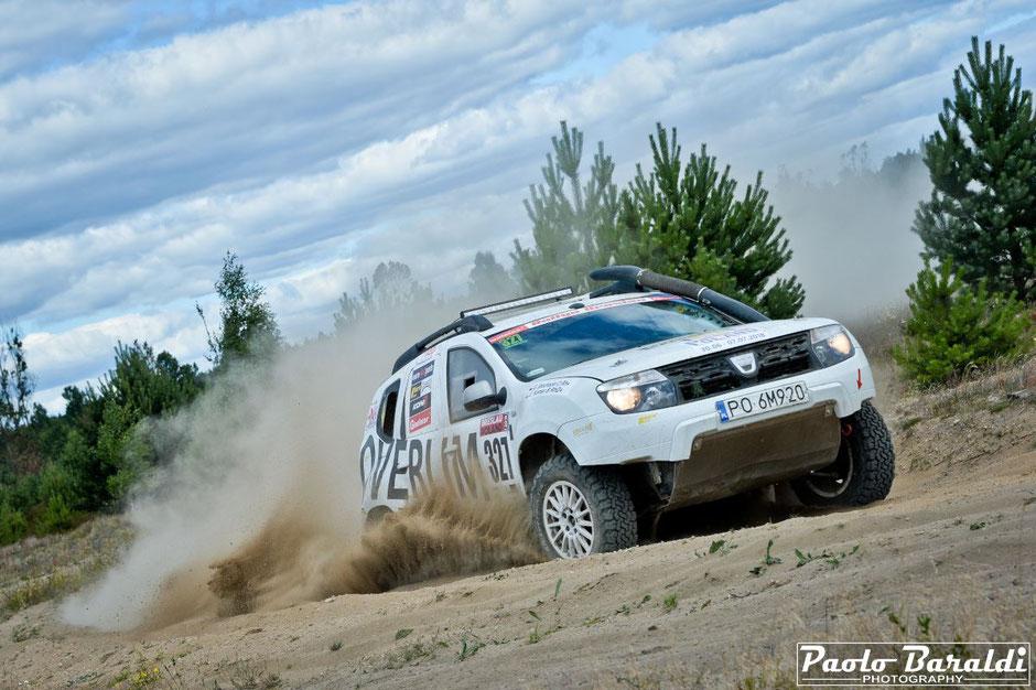 Grzegorz Brochocki and Grzegorz Komar winners Breslau Poland Car Cross Country