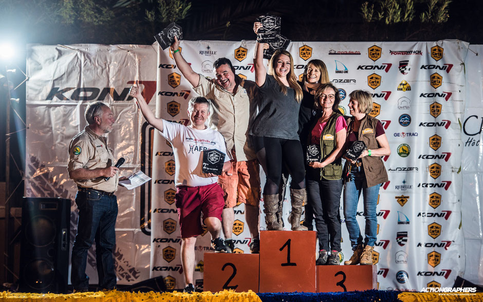 Emily Miller and Lilly Macaruso on the Carta Rallye podium