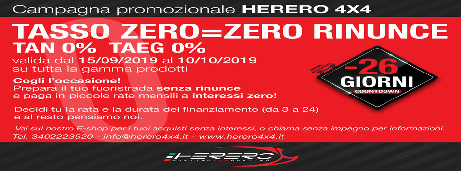 herero 4x4 campagna tasso zero