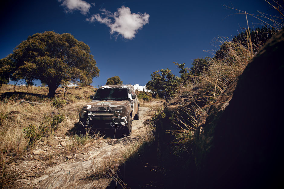 land rover new defender test tusk borana conservancy