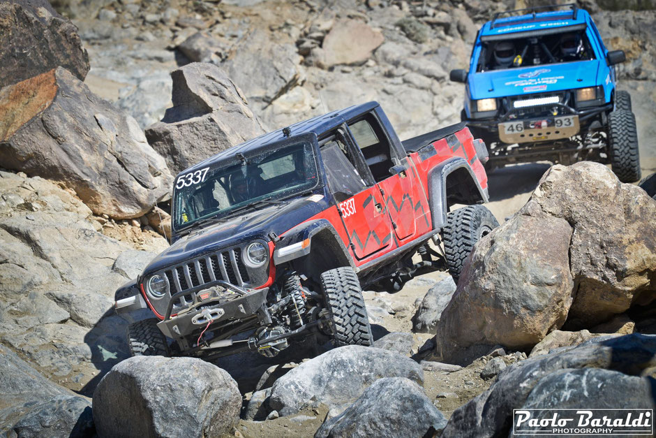 Erik Miller, in action at the Chocolate Thunder, and Robby Gordon brought the new Jeep Gladiator to the end of the race