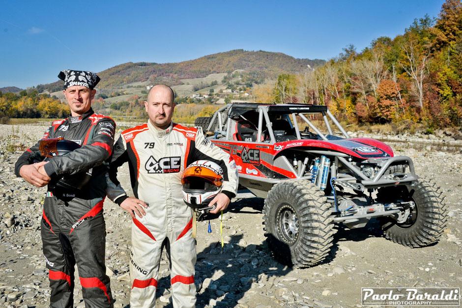 Pier Acerni (on the right) and his co-pilote Nicola Bondi
